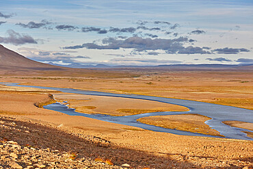 The wilderness of Iceland's desolate interior, The Kjolur valley, in the south of the Highlands region, central Iceland, Polar Regions