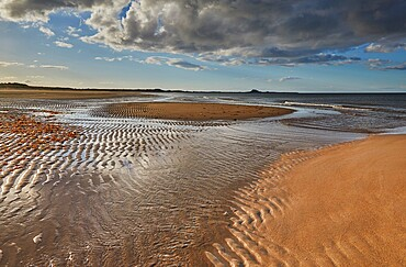 Ross Back Sands, near Lindisfarne, on the North Sea coast of Northumberland, northeast England, United Kingdom, Europe