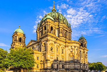 Low angle view of Berlin Cathedral in Berlin, Germany, Europe