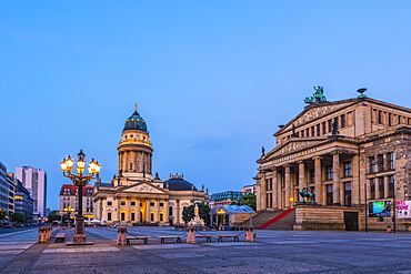 Deutscher Dom and the Concert Hall in Gendarmenmarkt, Berlin, Germany, Europe
