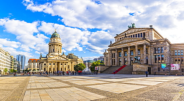 Deutscher Dom and Konzerthaus Berlin in Gendarmenmarkt square Berlin, Germany, Europe