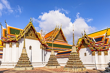 Wat Pho (Temple of the Reclining Buddha), Bangkok, Thailand, Southeast Asia, Asia