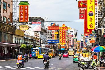 Yaowarat Road in Chinatown, Bangkok, Thailand, Southeast Asia, Asia