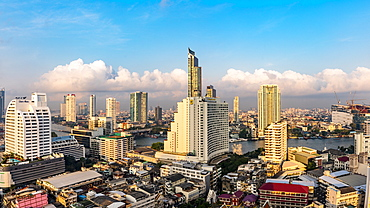 Elevated view of Bangkok, Thailand, Southeast Asia, Asia