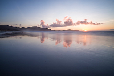 Sunset at Traigh Eais, Barra, Outer Hebrides, Scotland, United Kingdom, Europe