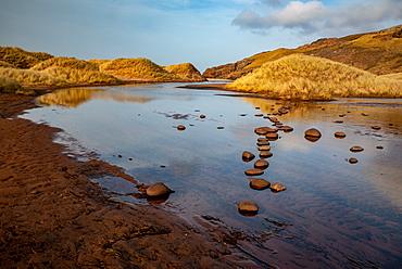 Late afternoon at Sandwood Loch, Sandwood Bay, Scotland, United Kingdom, Europe