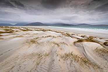 Sand dunes, Luskentyre Beach, West Harris, Outer Hebrides, Scotland, United Kingdom, Europe - 1209-225