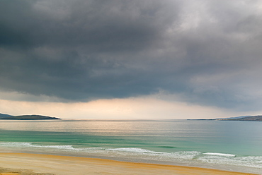 Luskentyre Beach, West Harris, with Taransay in the far distance, Outer Hebrides, Scotland, United Kingdom, Europe - 1209-226