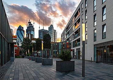 City of London, sunset, London, England, United Kingdom, Europe