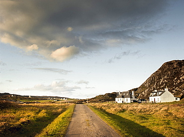Two croft houses, Isle of Colonsay, Inner Hebrides, Scotland, United Kingdom, Europe