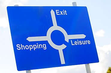 Signpost, modern life, United Kingdom, Europe