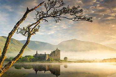 Kilchurn Castle at sunrise in Scotland, Europe - 1213-148