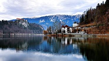 Lake Bled, Gorenjska, Julian Alps, Slovenia, Europe