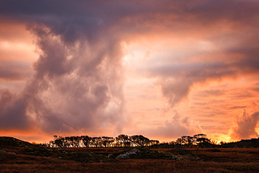 Storm clouds on the Isle of Mull, Inner Hebrides, Scotland, United Kingdom, Europe