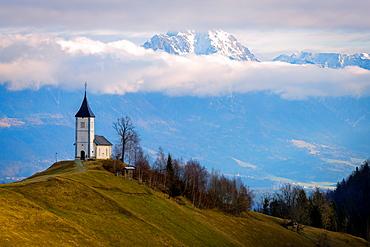 The Church of St. Primoz, Jamnik, Slovenia, Europe
