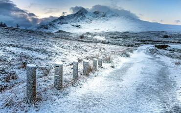 Sligachan in the snow, Isle of Skye, Inner Hebrides, Scotland, United Kingdom, Europe