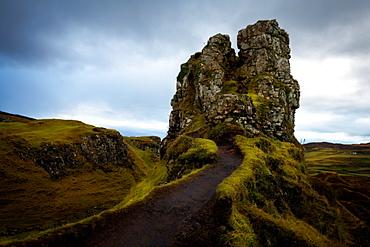 The Castle, Fairy Glen, Isle of Skye, Inner Hebrides, Scotland, United Kingdom, Europe