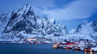 Reine at dusk, Lofoten Islands, Nordland, Norway, Europe