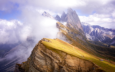 Dramatic Seceda mountain, Dolomites, Italy, Europe