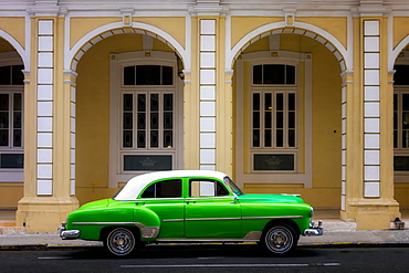 Classic Old Car, Old Town, Havana, Cuba, West Indies, Caribbean, Central America