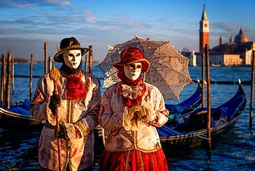 Models of the Venice Carnival, Venice, UNESCO World Heritage Site, Veneto, Italy, Europe