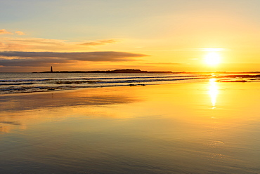 Sunrise at Seacliff Beach, East Lothian, Scotland, United Kingdom, Europe