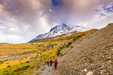 Hiking through Torres del Paine National Park, Patagonia, Chile