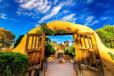 The famous pilgrimage site of Santuario de Chimayo, New Mexico, United States of America, North America