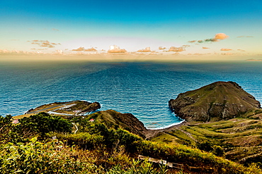 View of the ocean from Saba Island, Netherlands Antilles, West Indies, Caribbean, Central America