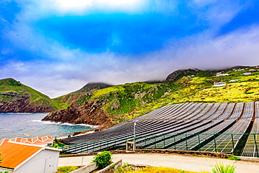 Solar power on Saba Island, Netherlands Antilles, West Indies, Caribbean, Central America
