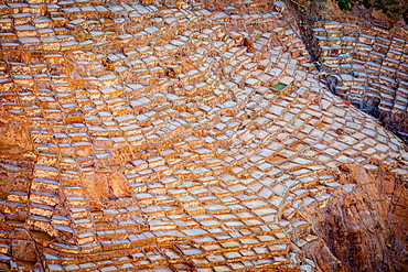 Salt mines, Maras, Sacred Valley, Peru, South America