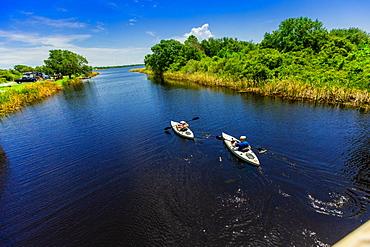 Kayaking through Cotton Bayou, Orange Beach, Alabama, United States of America, North America