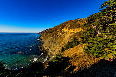 Scenic coastline along Highway 1, California, United States of America, North America