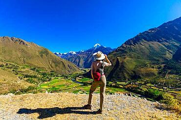 View from the Inti Punku Trek, Ollantaytambo, Peru, South America