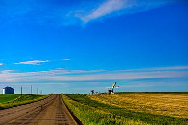 The Enchanted Highway, a collection of large scrap metal sculptures constructed at intervals along a two-lane highway.
