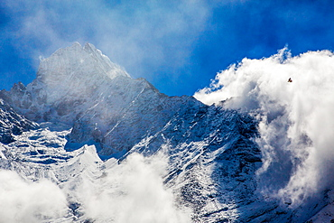 Peak of Mount Everest, Sagarmatha National Park, UNESCO World Heritage Site, Himalayas, Nepal, Asia