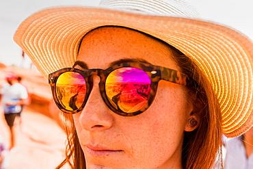 Horseshoe Bend reflection in Page, Arizona, United States of America, North America