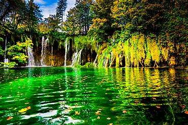 Scenic spot in Plitvice Lakes National Park, UNESCO World Heritage Site, Croatia, Europe