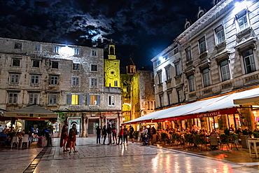 Nightlife in Split, Croatia, Europe