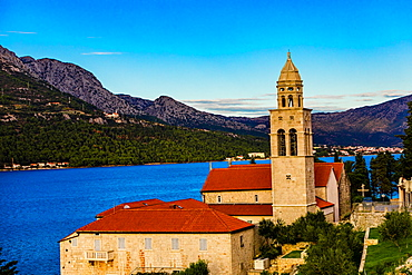 View of Korcula Island, Croatia, Europe
