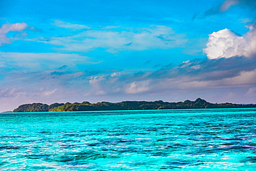 View of Koror's rock islands, Koror Island, Palau, Micronesia, Pacific