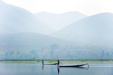 Fishermen on Inle Lake, Myanmar (Burma), Asia