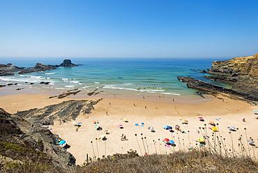 Beach at Zambujeira do Mar, Portugal, Europe