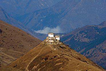 Lingzhi Dzong, a spectacular site on the Laya-Gasa trek, Thimpu District, Bhutan, Asia