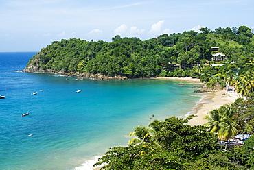 The beach at Castara Bay in Tobago, Trinidad and Tobago, West Indies, Caribbean, Central America