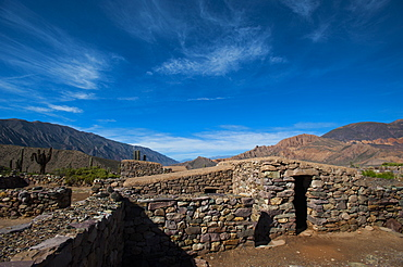 One of the ancient pre-Inca houses at Pucara de Tilcara, Jujuy Province, Argentina, South America
