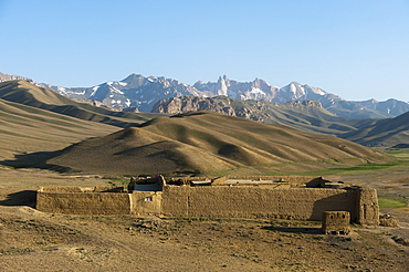 The Koh-e Baba mountains make an impressive backdrop in Bamiyan Province, Afghanistan, Asia