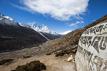 The village of Dingboche in the Khumbu (Everest) Region, Nepal, Himalayas, Asia