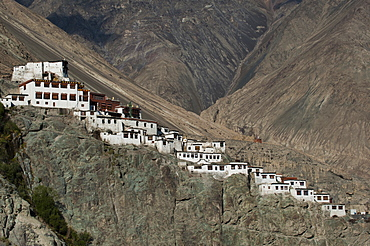Diskit Monastery in the remote Nubra Valley, Ladakh, north India, Asia