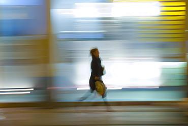 Pedestrian on Regent Street in London, England, United Kingdom, Europe
